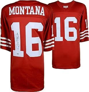 Joe Montana San Francisco 49ers Autographed Mitchell & Ness Red Replica Jersey - Fanatics Authentic Certified