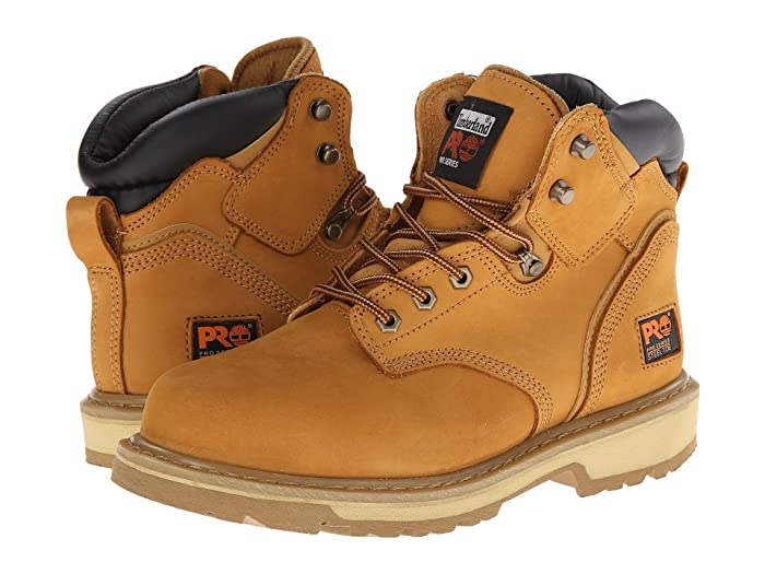 Timberland PRO  6 Pit Boss Steel Toe (Wheat Nubuck Leather) Mens Work Lace-up Boots