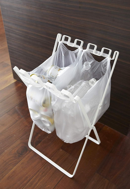 山崎実業『ゴミ袋&レジ袋スタンド ホワイト』