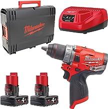 Milwaukee 4933459818 0 m12fdd de 402 x Fuel/4.0 Ah – Taladro Atornillador, 12 V, Red