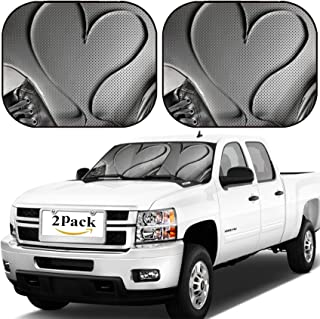 MSD Car Windshield Sun Shade, Universal Fit, 2-Piece for Car Window SunShades, Automotive Foldable Protector Cover, Laces of Silver Shoes Threads with Heart Valentines Shape Image ID 4575150