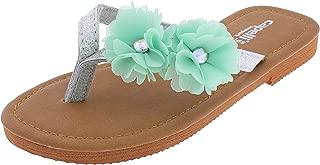 Girls Fashion Flip Flops with Gem Trim