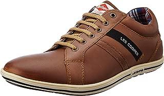 Lee Cooper Men's Lc1283etan Leather Sneakers