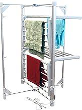 LCM Home Fashions 2-Tier Heated Drying Rack Tower Warmer