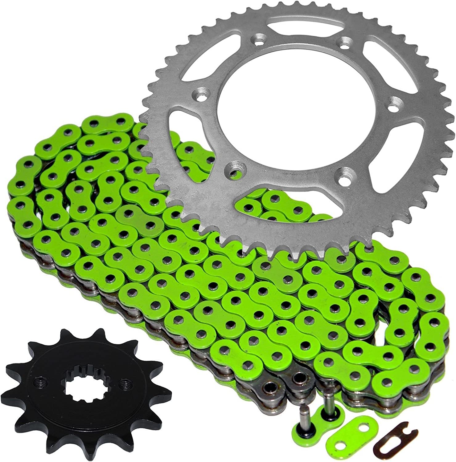 Caltric Green It is Free shipping on posting reviews very popular O-Ring Drive Chain W Comp Sprockets Front Kit Rear