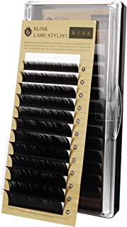 Eyelash Extension Blink Signature Mink Lash D Curl 0.15 x (7~14mm), 8 Sizes in 1 Mixed Tray (DX0.15)