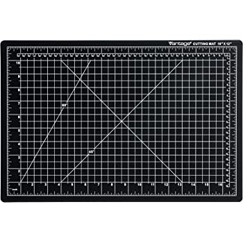 "Dahle Vantage 10671 Self-Healing Cutting Mat, 12""x18"", 1/2"" Grid, 5 Layers for Max Healing, Perfect for Crafts & Sewing, Black"