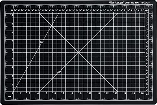 "Dahle Vantage 10671 Self-Healing Cutting Mat, 12""x18"", 1/2"" Grid, 5 Layers for Max Healing, Perfect for Crafts & Sewi..."