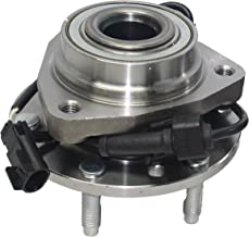 Detroit Axle - Front Wheel Bearing and Hub Assembly for Ascender, Envoy, Rainier, Trailblazer 6 Lug W/ABS 513188