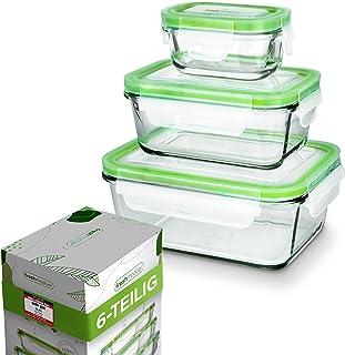 Fresh Master Lot de 6 boîtes de conservation en verre pour aliments - 100 % étanches + hermétiques avec couvercle
