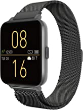 Kalakate Smart Watch for iOS Android Phones, IP68 Waterproof Smartwatch for Men Women Adult, Fitness Tracker with Heart Rate Monitor Sleep Steps Call Reminder, Weather Forecast (Space Gray)