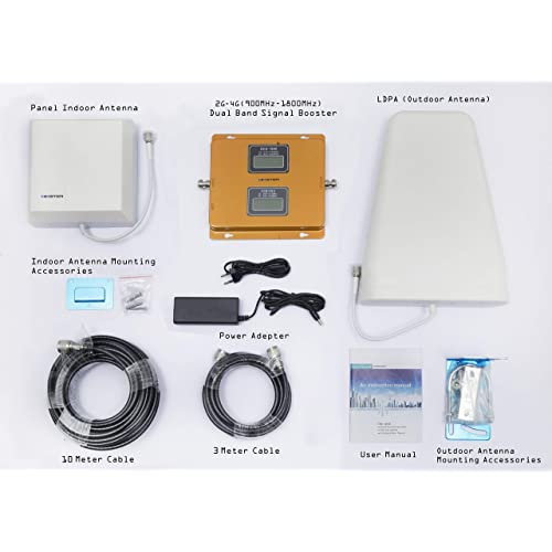 acfc735c5b4083 himster 4G and 2G Dual Band Cell Phone Signal Booster for Home, Offices and  Industrial