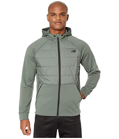 New Balance Tenacity Hybrid Puffer Jacket (Slate Green) Men