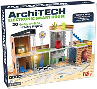 SmartLab Toys Archi-Tech Electronic Smart House - 62 Pieces - 20 Projects - Includes Light and Sound