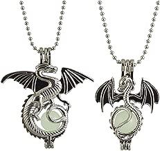 glow in the dark dragon sword necklace