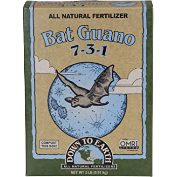 Down to Earth Organic Bat Guano Fertilizer Mix 7-3-1, 2 lb