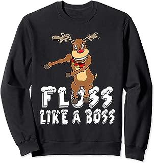 Reindeer Floss Like A Boss Dance Move Christmas Sweatshirt