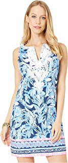 Lilly Pulitzer Women's Gabby Stretch Shift Dress High Tide Navy You're The Zest 0