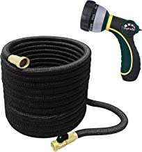 TheFitLife Best Expandable Garden Hose - 25/50/75/100 Feet Strongest Triple Core Latex and Solid Brass Fittings Free Spray Nozzle 3/4 USA Standard Easy Storage Kink Free Flexible Water Hose (100 Feet)