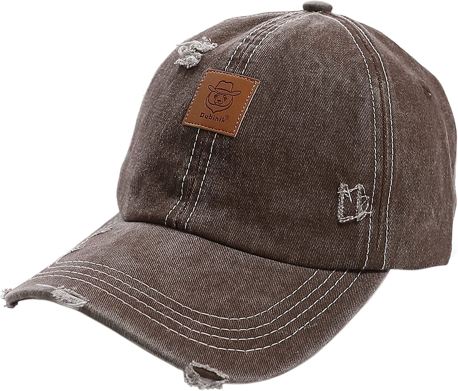 Max 77% OFF Dubinik Washed Distressed Cotton Super beauty product restock quality top Criss-Cross Denim Hat Ponytail