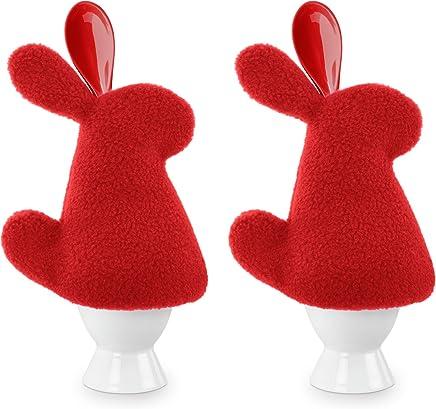 Preisvergleich für Leschi 2er Set Eierwärmer | 36750 | Der Hase Luigi (mit Eierlöffel) Farbe: Feuer