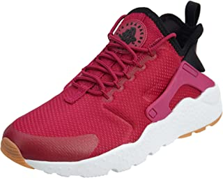Women's Air Huarache Run Ultra Sport Fuchsia/Black Gum Yellow Running Shoe 9 Women US