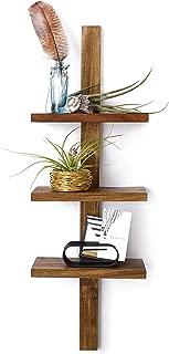 Design Ideas Takara Column Shelf, Natural Teak Decorative Wall Mounted Shelving Unit with 3 Shelves, 24