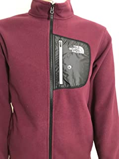 The North Face Mens 200 Tundra Full Zip Fleece Jacket Deep Garnet Red 4f1ad72d5