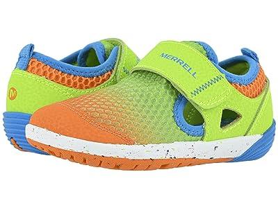 Merrell Kids Bare Steps H20 (Toddler) (Green/Orange) Boys Shoes