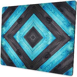 لوحة ماوس TianChen بخطوط سوداء وزرقاء خشبية مجردة للألعاب الكمبيوتر المحمول، لوازم المكتب أجهزة الكمبيوتر المكتبية، لوحات ...