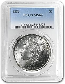 1886 Morgan Dollar MS-64 PCGS $1 MS-64 PCGS