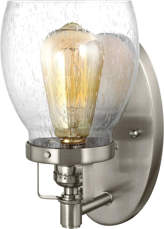 Sea Gull Lighting 4114501-962 Belton Wall Sconce, One Light, Brushed Nickel