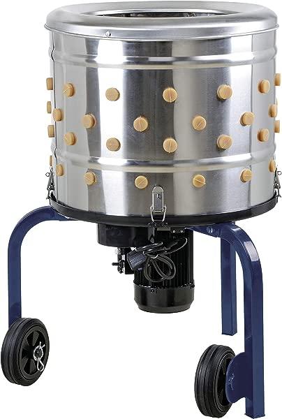 KITCHENER 不锈钢除鸡器除鸡器家禽食品处理器重型电动 1 2HP 120VAC 280RPM 行星齿轮电机 GFCI 连接器 92 软手指 20 滚筒直径