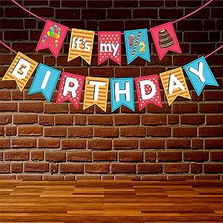 Wobbox 1/2 Birthday Bunting Banner, Multi Colour Polka Dot, Half Birthday Decorations, Birthday Decoration Item
