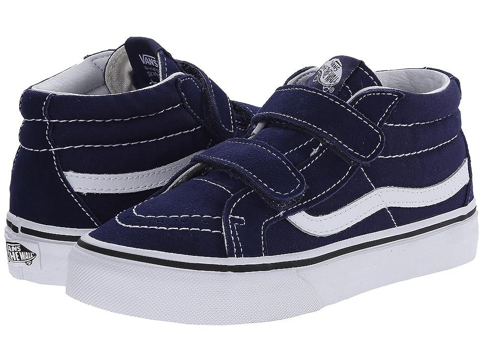 Vans Kids SK8-Mid Reissue V (Little Kid/Big Kid) (Patriot Blue/True White) Kids Shoes