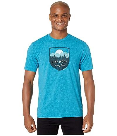 Life is Good Hike More Cool Teetm (Seaport Blue) Men