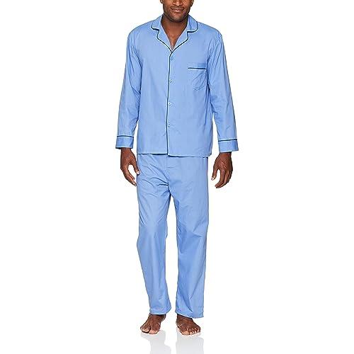 a9daf745cb Hanes Men s Woven Plain-Weave Pajama Set