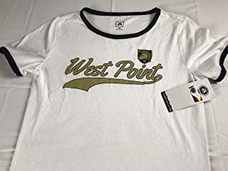 J America West Point T-Shirt Womens Medium Army Black Knights Student Alumni Cotton Poly