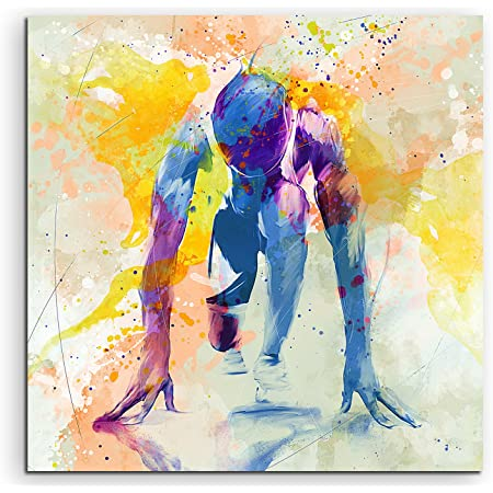 Paul Sinus Running IV Tableau mural 60 x 60 cm Motif aquarelle