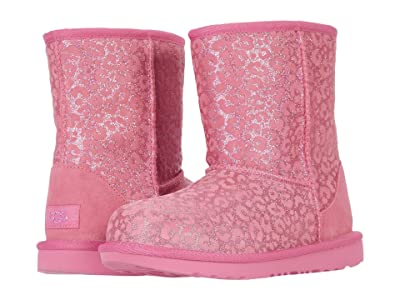 UGG Kids Classic II Glitter Leopard (Little Kid/Big Kid) (Wild Berry) Girls Shoes