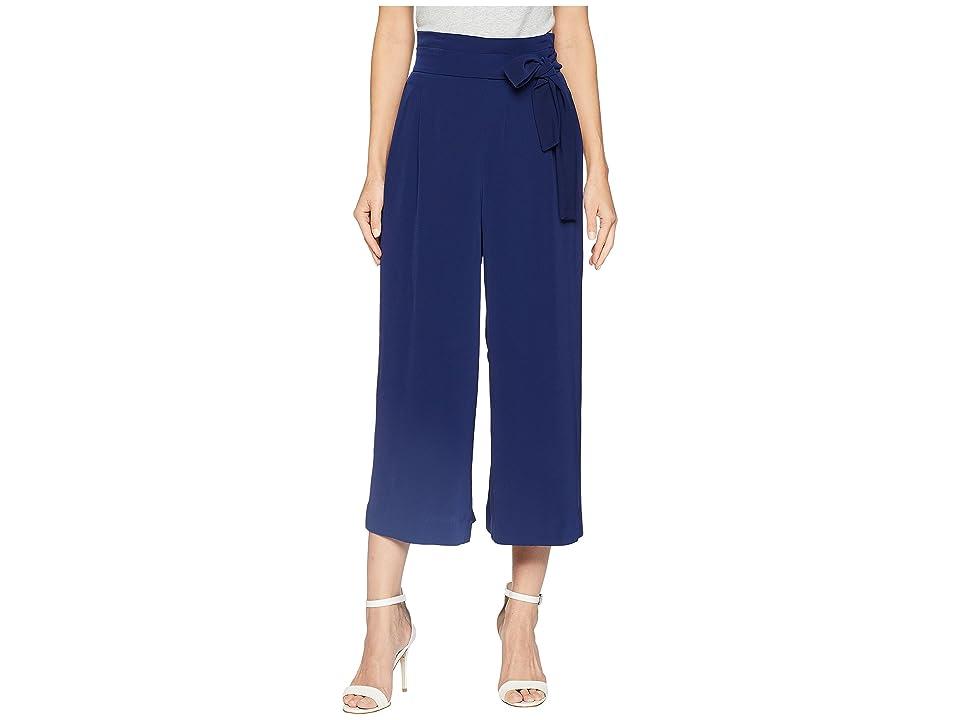 Anne Klein Belted Cropped Trouser (Eclipse) Women