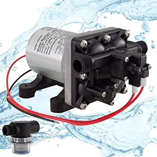 RecPro RV Water Pump Shurflo 4008-101-A65 3.0 GPM | 12V Water Pump | Self-Prime | Camper Water Pump | RV Plumbing | Optional Strainer (1 Pump, with 1 Strainer)