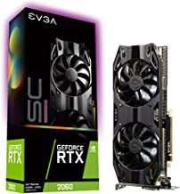 EVGA 06G-P4-2067-KR GeForce RTX 2060 SC Ultra Gaming, 6GB GDDR6, Dual HDB Fans
