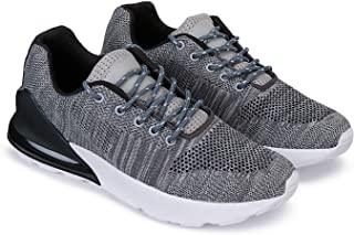 Earton Running Sports Shoes,Lace-Up,Flylnit Socks for Men (3190)