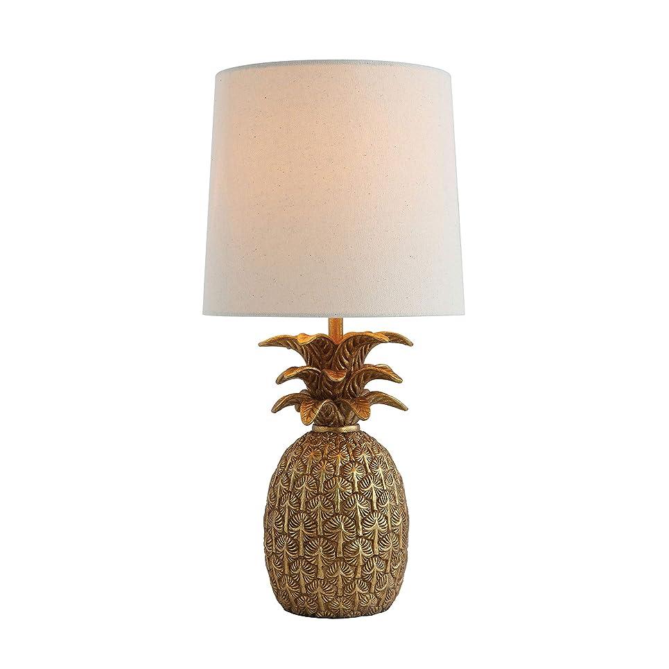 アンケート贅沢小切手クリエイティブco-op da7087?Palm/Fauna樹脂パイナップル型テーブルランプアンティーク調ゴールド仕上げ&リネンShade