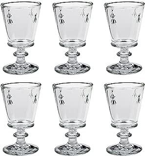 La Rochere Bee Stemmed Wine Glass Goblet, 240 ml, 8 oz, Set of 6