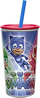 Zak Designs 10.5 oz PJ Masks Insulated Tumbler With Lid, Straw And Embossed Artwork - Makes Character Pop Out, Insulation Prevents Condensation, And Fits In Most Cup Holders, PJ Masks