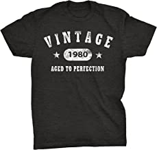 40th Birthday Gift T-Shirt - Vintage 1980 Aged to Perfection