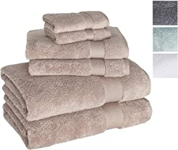Towels Beyond Luxury 6 Piece Bath Towel Set - Quick Dry Hotel and Spa Soft Cotton Linen Made with 100% Turkish Cotton (Beige)