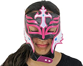 Female Lucha Libre Mexican Wrestling Mask Black - Pink 22